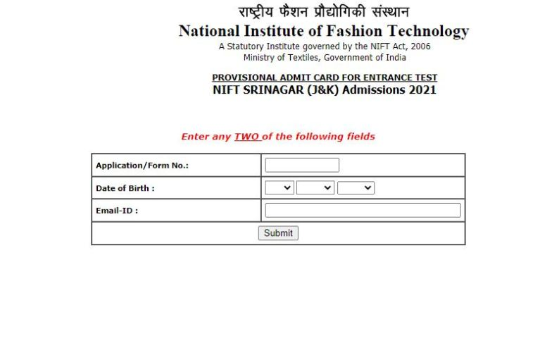 NIFT Entrance Exam Admit Card 2021 Announced | Download Here