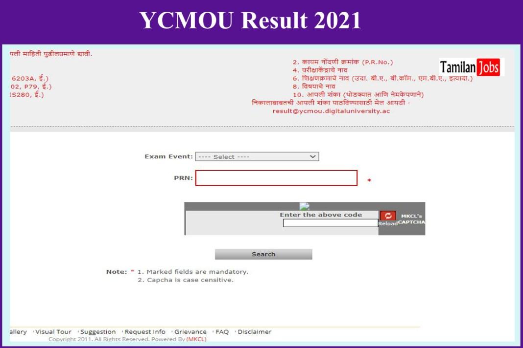 YCMOU Result 2021