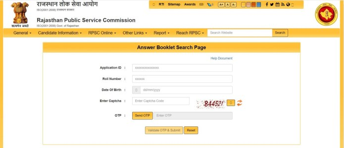 RPSC RAS Final Answer Key 2021 {OUT} @ rpsc.rajasthan.gov.in | Check Here
