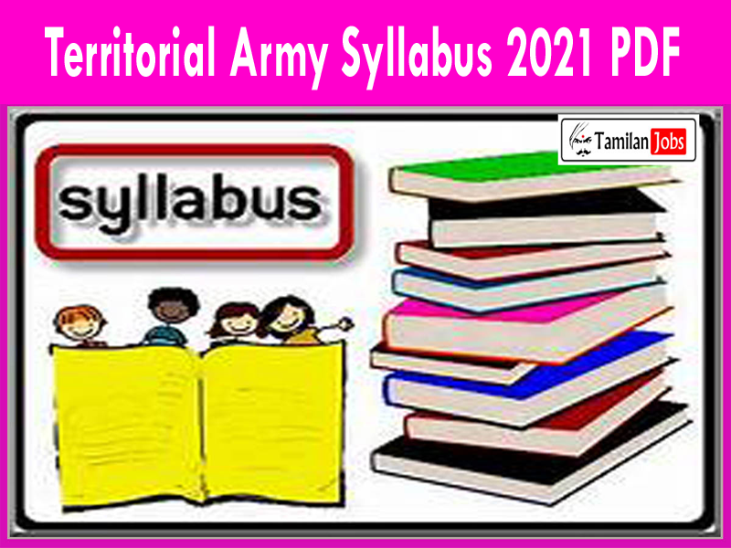 Territorial Army Curriculum 2021 PDF