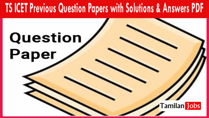 TS ICET Previous Question Papers with Solutions & Answers PDF