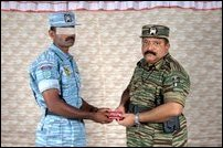 LTTE leader decorates Tiger heroes