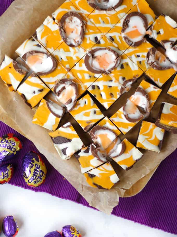 Easter Creme Egg Microwave Fudge