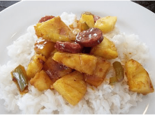 Crock Pot Pineapple Kielbasa