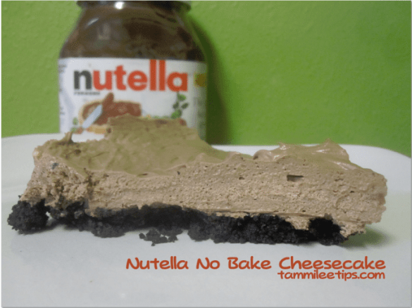 Nutella No Bake Cheesecake