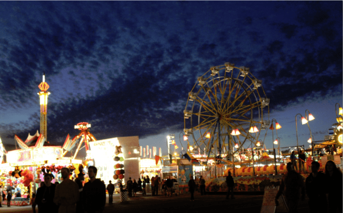 Our evening at the Spokane County Fair