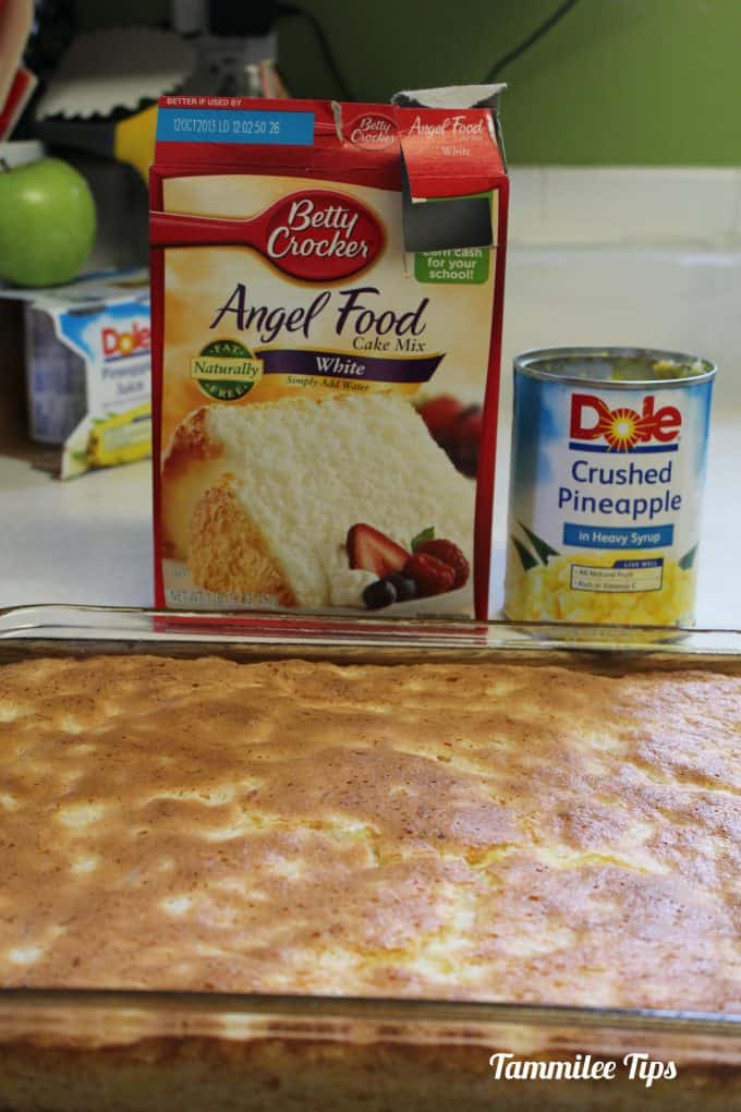 Pineapple Angel Food Cake Recipe! This dessert recipe only needs 2 ingredients! So good!