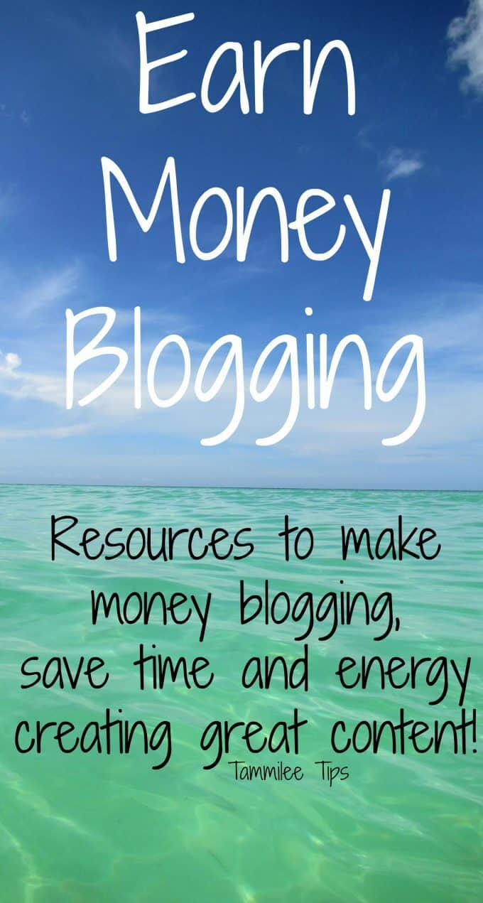 Earn money blogging plus resources to save time and energy creating great content.