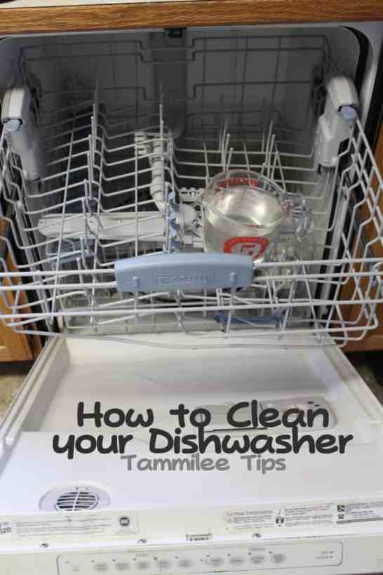 how to clean your dishwasher with tang