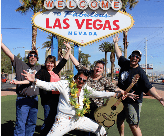Meeting Elvis at the Las Vegas Sign