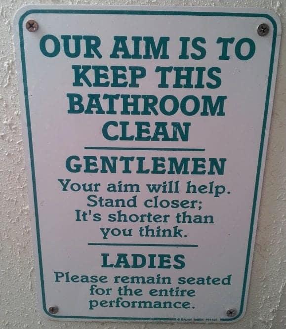 Pink Jeep Tour Eldorado Canyon Bathroom Sign