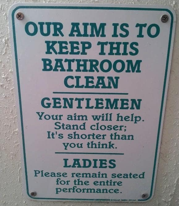 Pink Jeep Tour Eldorado Canyon Bathroom Sign
