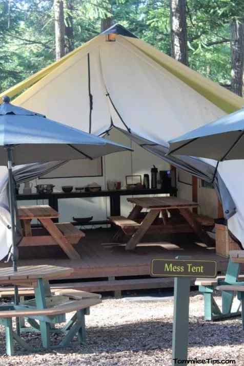 Lakedale Resorts Glamping Mess Tent