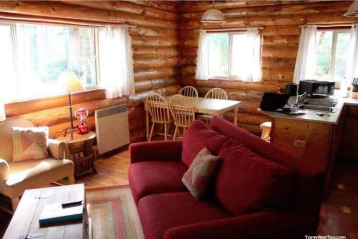 Lakedale Resorts Log Cabin Living room