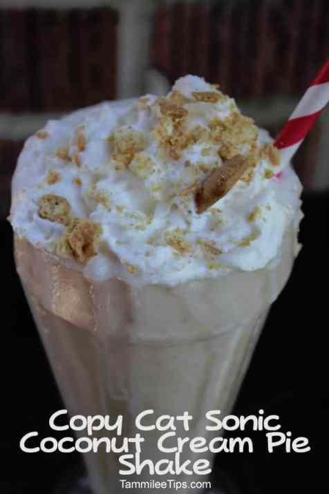 Copy Cat Sonic Drive In Coconut Cream Pie Shake copy