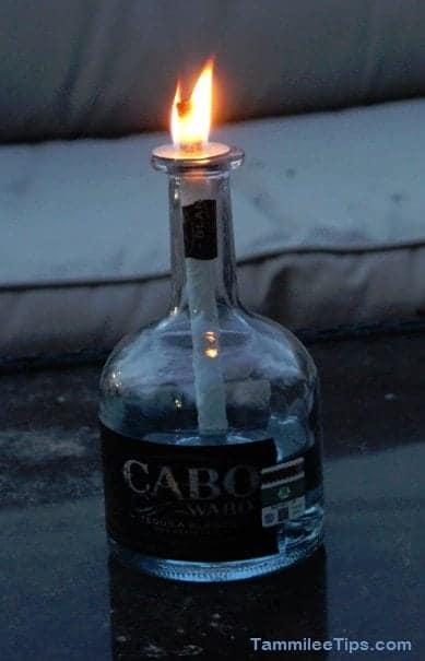 Cabo Wabo Tequila Bottle Lamp Lit