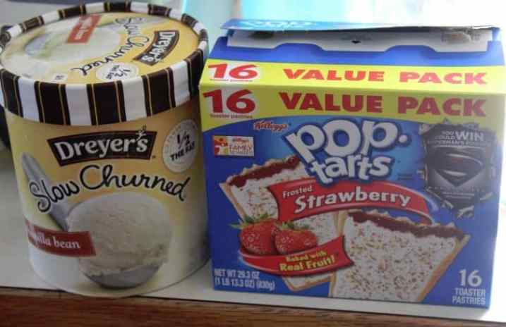 Copy Cat Carls Jr Poptart Ice Cream Sandwich Ingredients