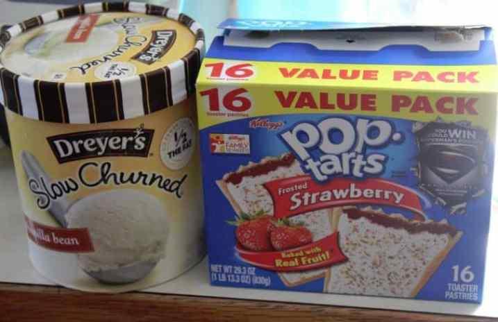 Copy Cat Carls Jr Poptart Ice Cream Sandwich Ingredients