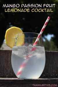 Mango Passion Fruit Lemonade Cocktail
