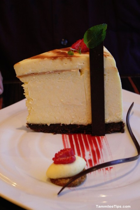 Carnival Breeze Fahrenheit 555 Steakhouse Cheesecake