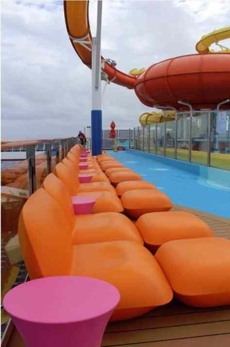 Carnival Breeze Pool Waterworks seating