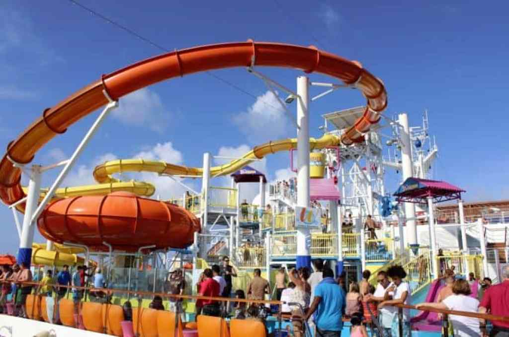 Carnival Breeze Waterslides