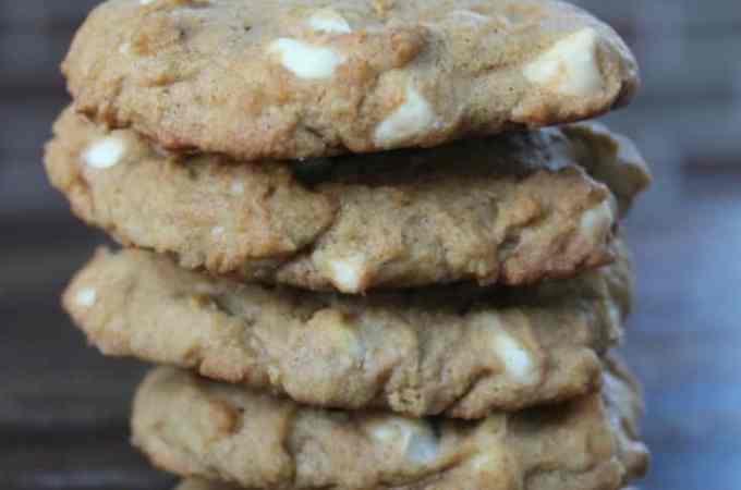 White Chocolate Pumpkin Spice Cookies