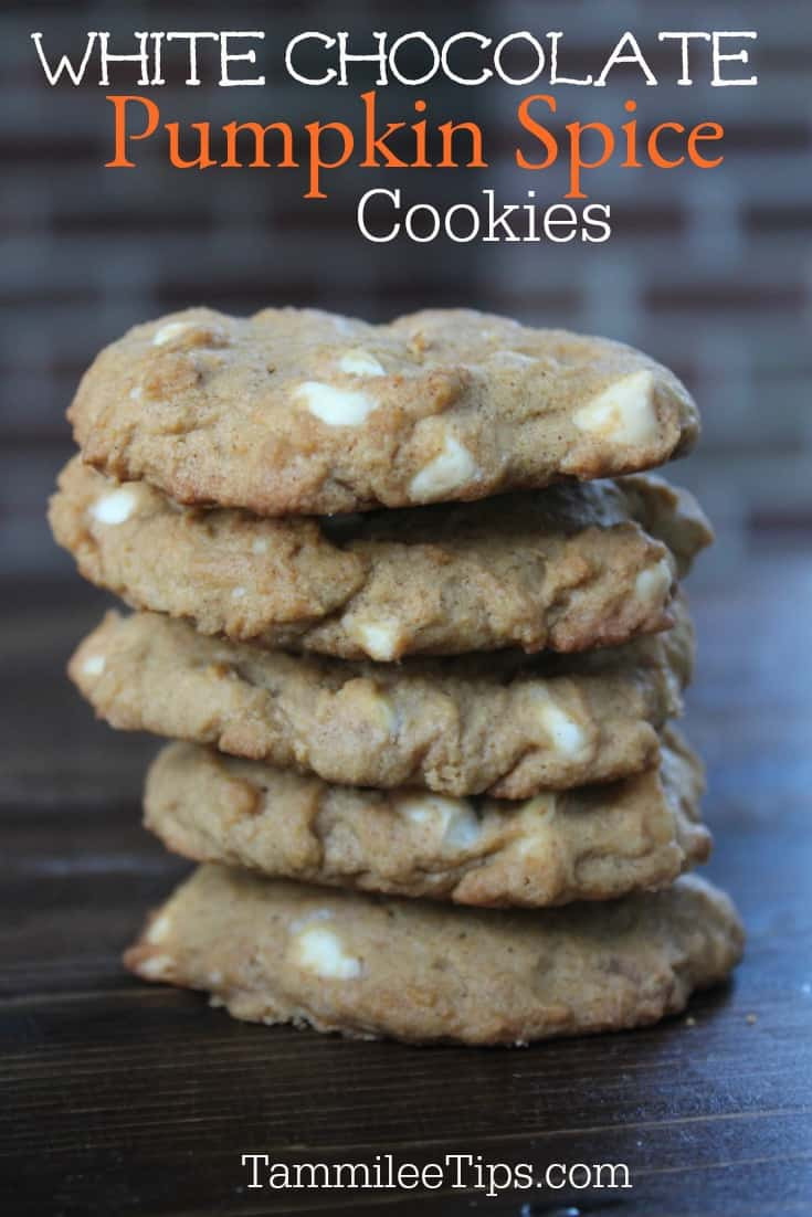 Easy soft White Chocolate Pumpkin Spice Cookies you will love! Perfect for fall! You will love how great these taste and how easy they are to make. 