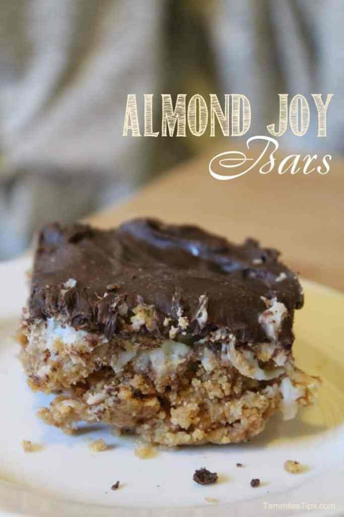 Homemade Almond Joy Bars Recipe is so easy to make and they taste delicious! They make a great DIY Christmas Gift and holiday sweet treat!