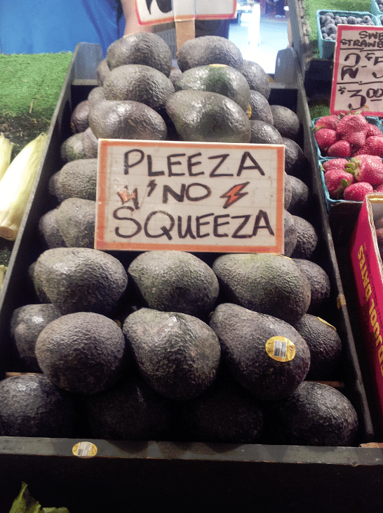 Seattle Pike Place Market avocados