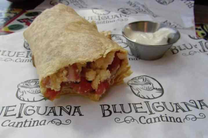 Carnival Breeze Blue Iquana Cantina Breakfast Burrito
