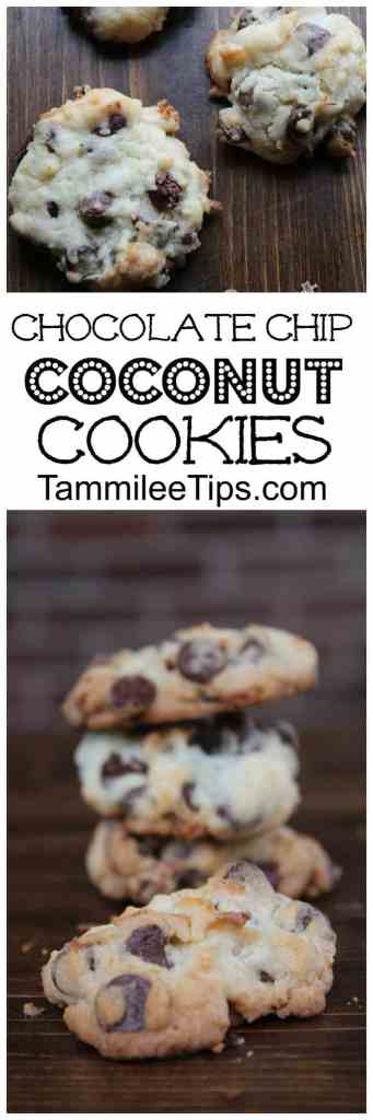 Delicious easy to make Chocolate Chip Coconut Cookies are the perfect holiday Christmas treat! The coconut is the perfect addition to these cookies! Perfect for holiday parties, DIY hostess gifts and more!