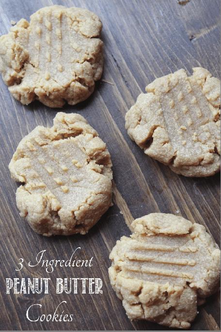 3 Ingredient Peanut Butter Cookies Tammilee Tips