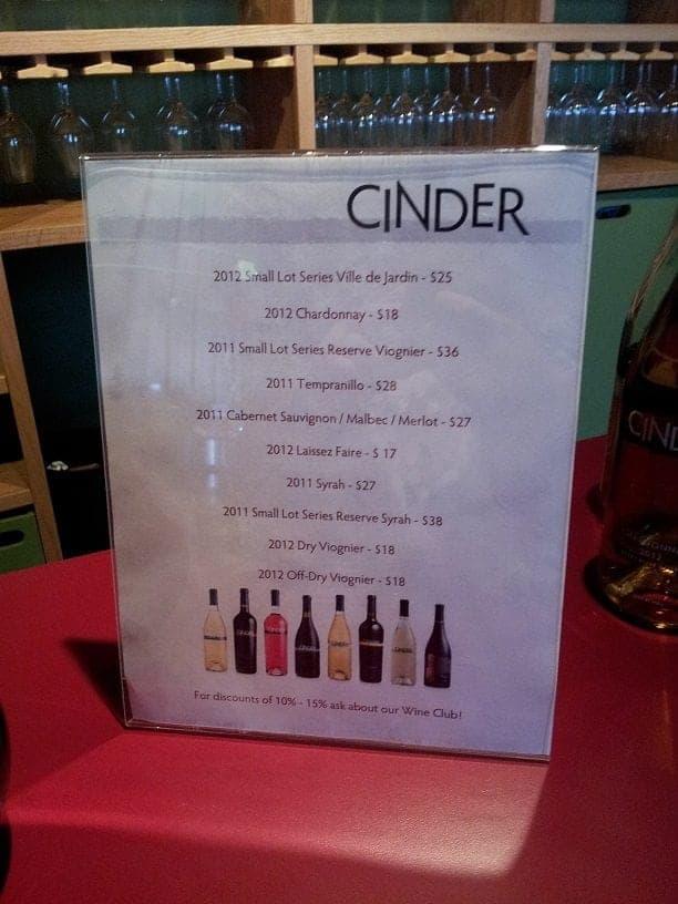Boise Cinder Wine varieties