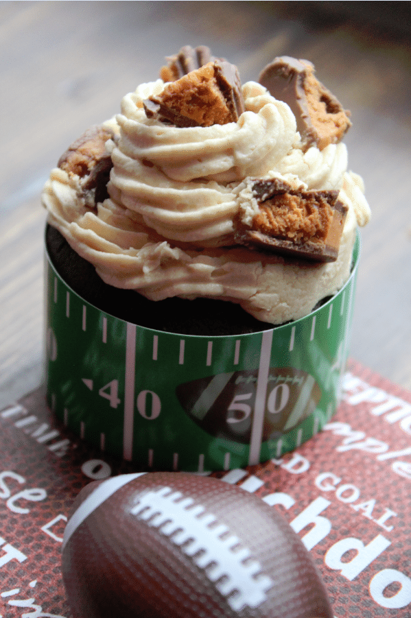 Butterfinger Football Cupcakes