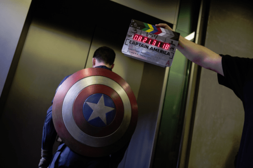 Chris Evans Capt America behind the scenes