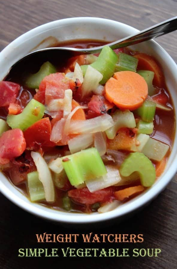 Weight Watchers Simple Vegetable Soup Recipe copy