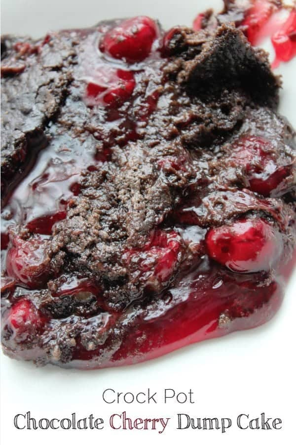 Crock Pot Chocolate Cherry Dump Cake