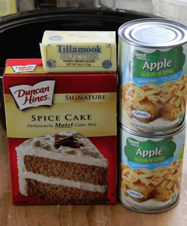 Crock Pot Apple Dessert With Spice Cake