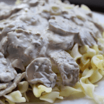 CrockPot Garlic Beef Stroganoff Recipe tammilee tips