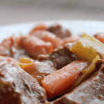 recipe rehab Hearty Beef Stew with steam