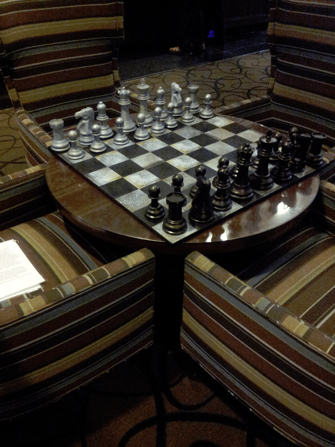 Red Lion Riverside Chess Table