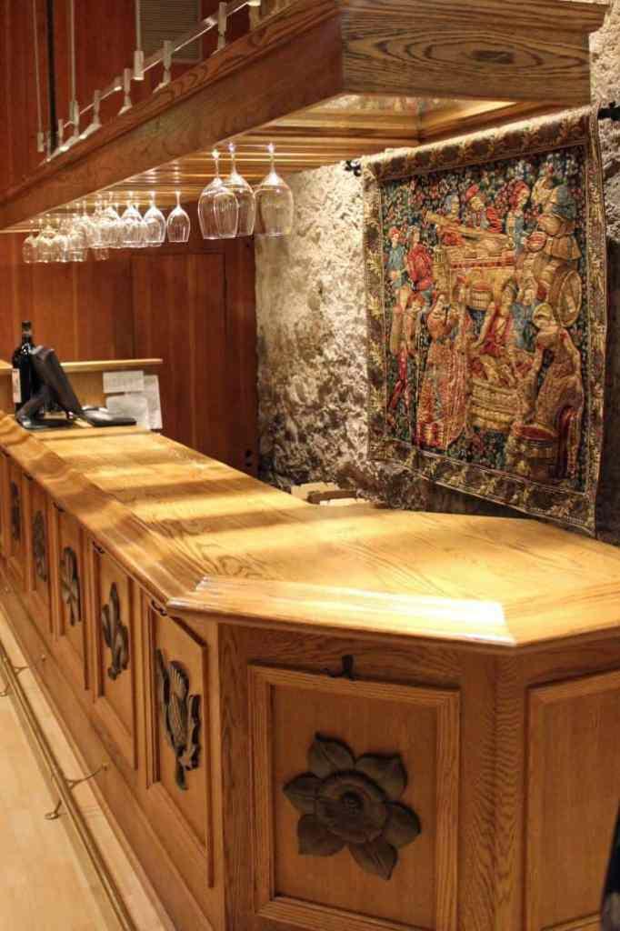 Chateau Montelana tasting room bar