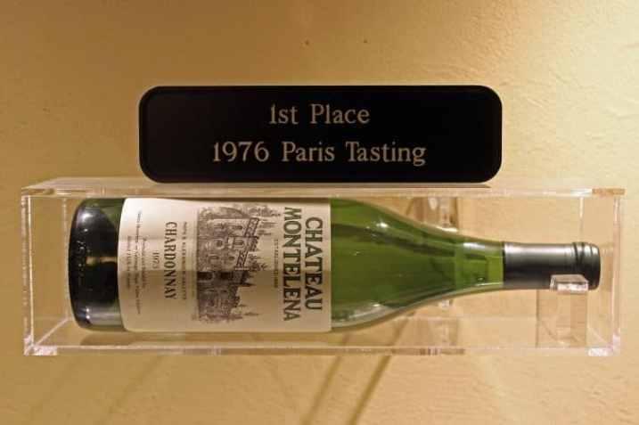 Chateau Montelena 1st place 1976 paris testing bottle