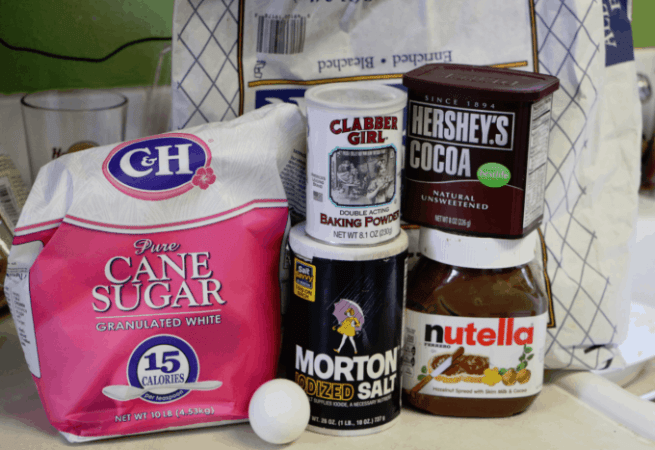 Nutella Mug Cake Ingredients