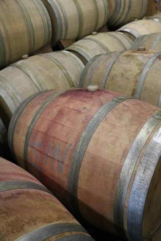 wine barrels Girgich Hills Estate