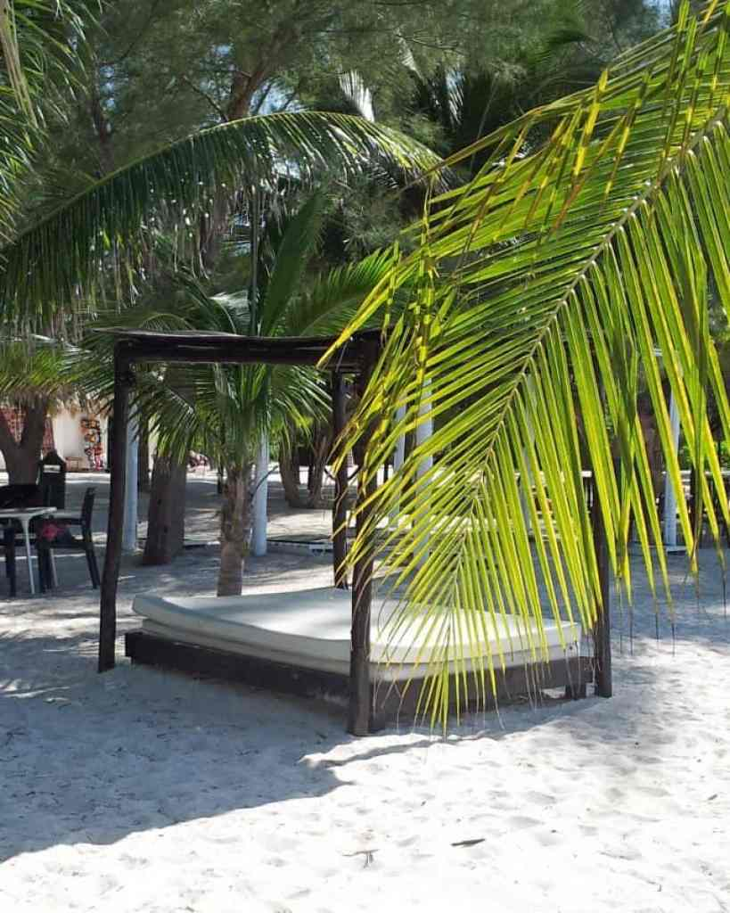 outdoor bed on Passion Island