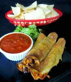 Corn & Black Bean Baked Taquitos