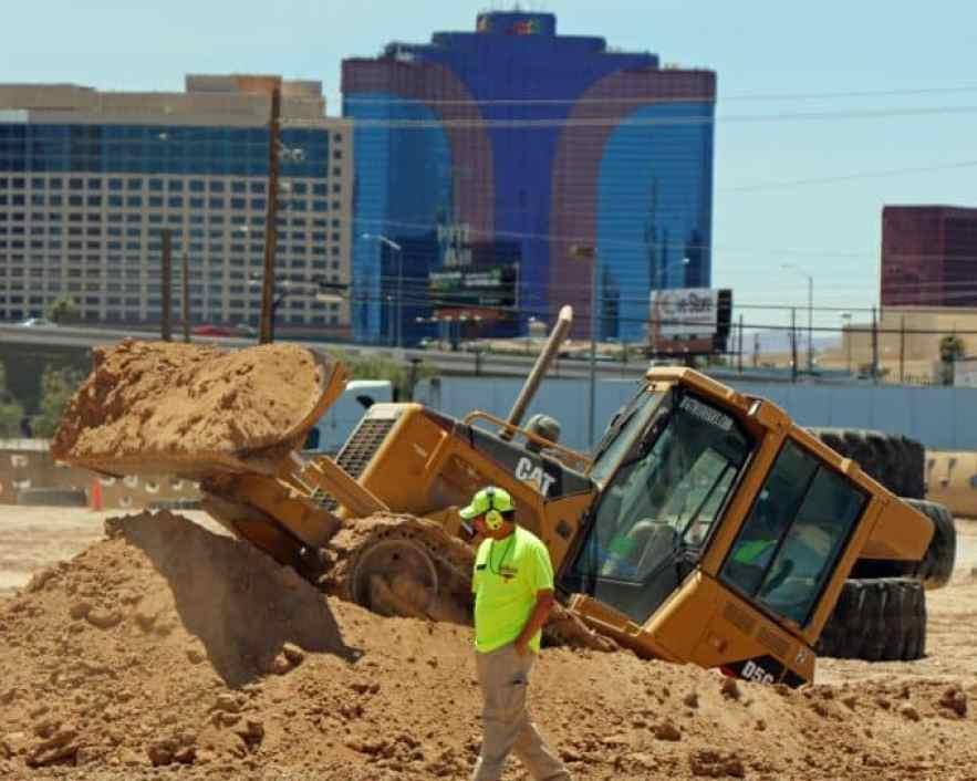 bulldozer at Dig This Las Vegas