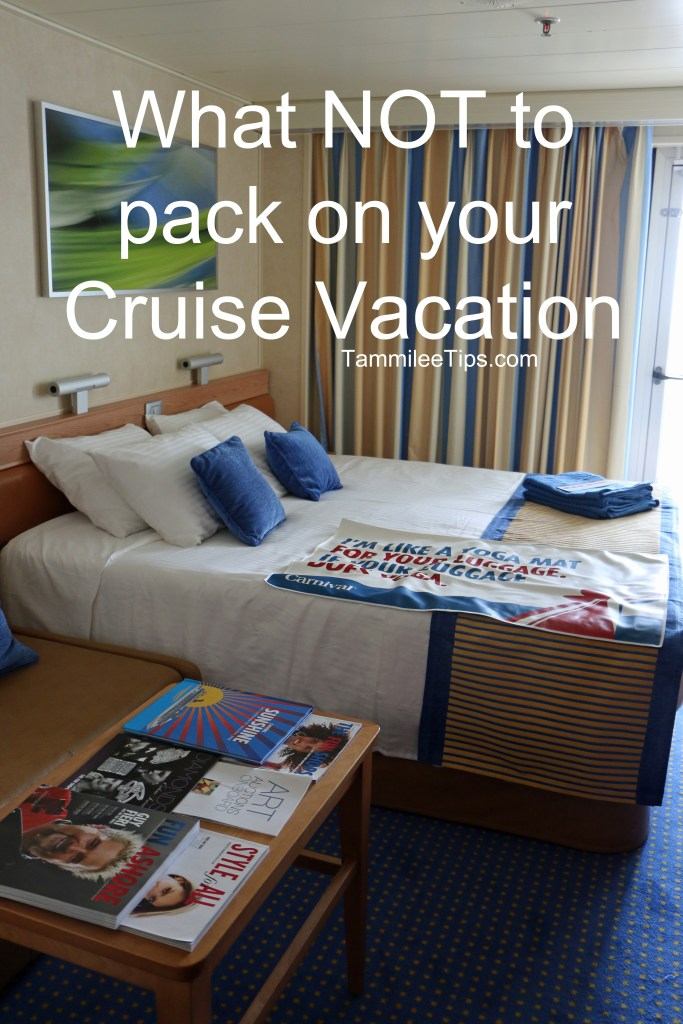 What not to pack on your cruise vacation